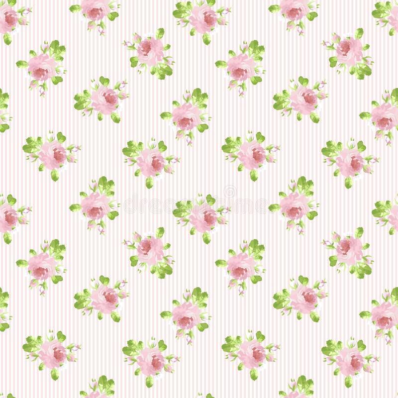 Muster mit Pastellrosarosen stockfoto