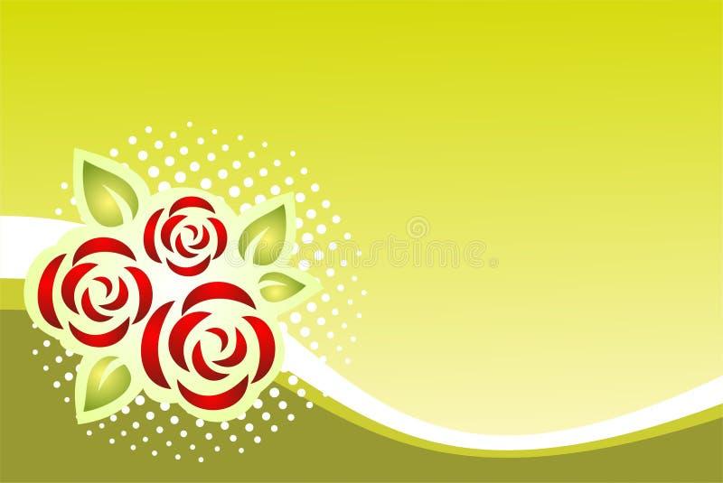 Muster mit Rosen stock abbildung