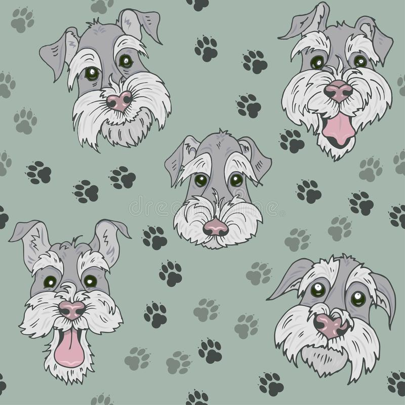 Muster mit schottischen Terrier-Hunden lizenzfreie abbildung
