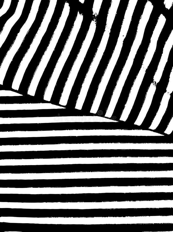 Muster mit Schwarzweiss-Streifen Gestaltungselement für das Herstellen von abstrakten Hintergrundbürsten, Hintergründe Marineseem lizenzfreie abbildung