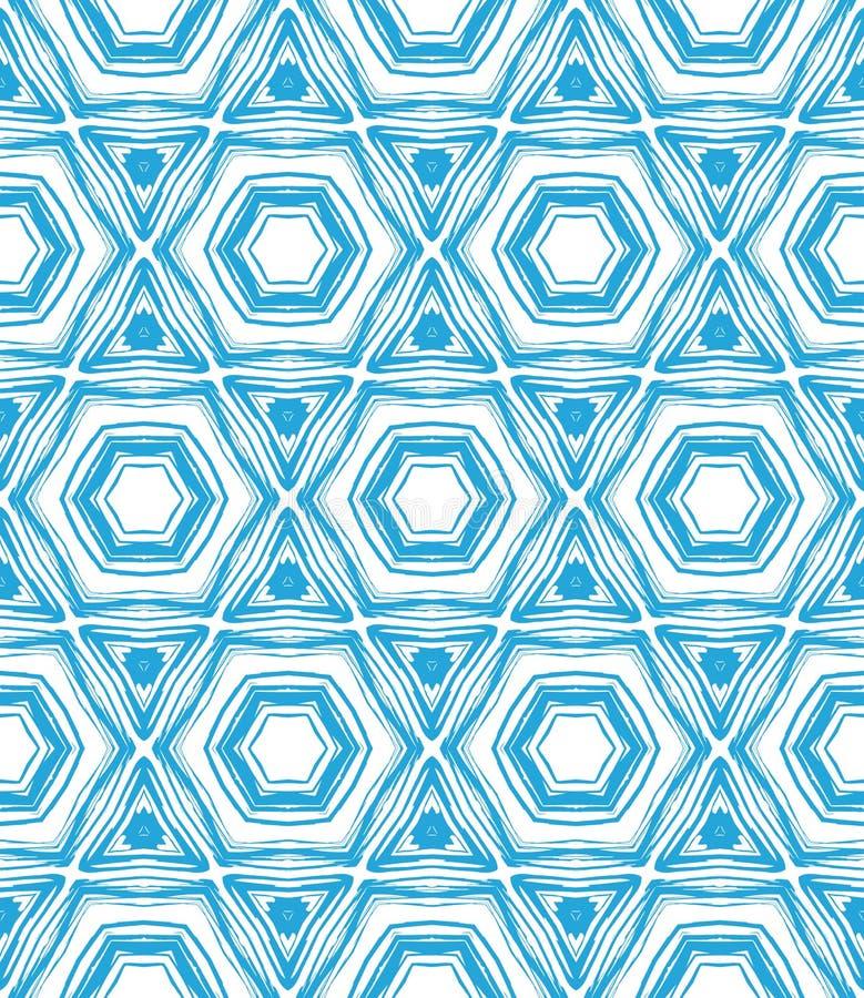 Muster mit Stern formt in Blaues und in weißes. vektor abbildung