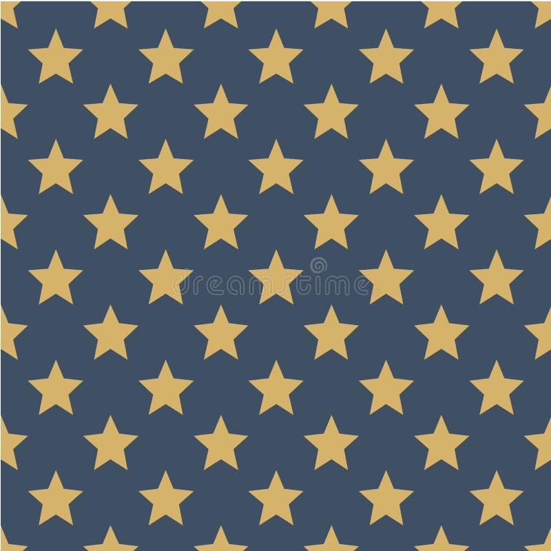 Muster mit Sternen Nahtlose vektorabbildung Flache skandinavische Art für Druck auf Gewebe, Geschenkverpackung, Netzhintergründe vektor abbildung