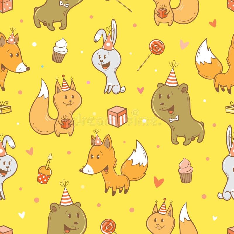 Muster mit Tieren stock abbildung