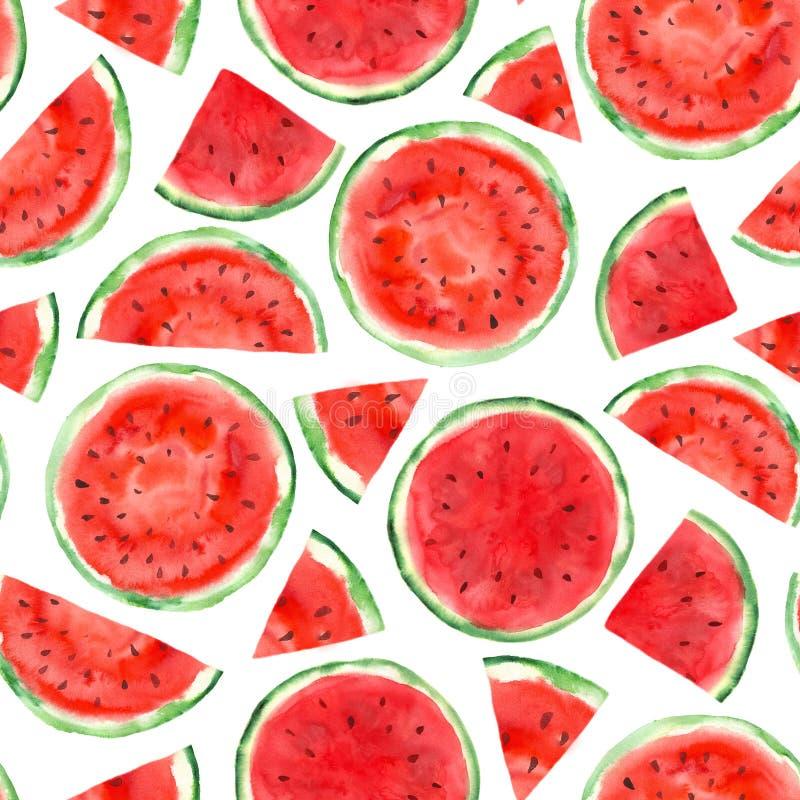 Muster mit Wassermelone stockfoto