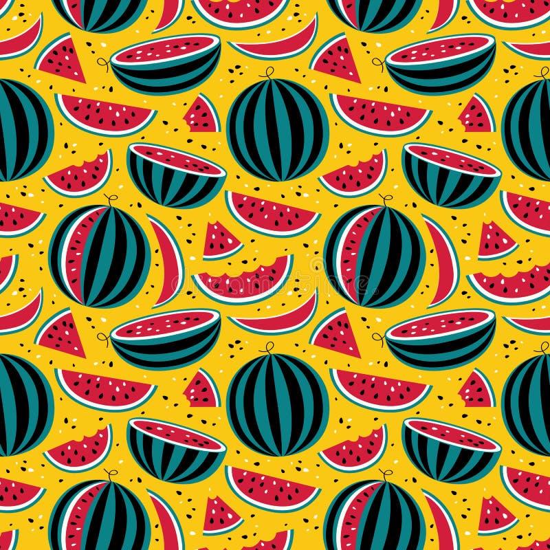 Download Muster mit Wassermelonen vektor abbildung. Illustration von mahlzeit - 47100595