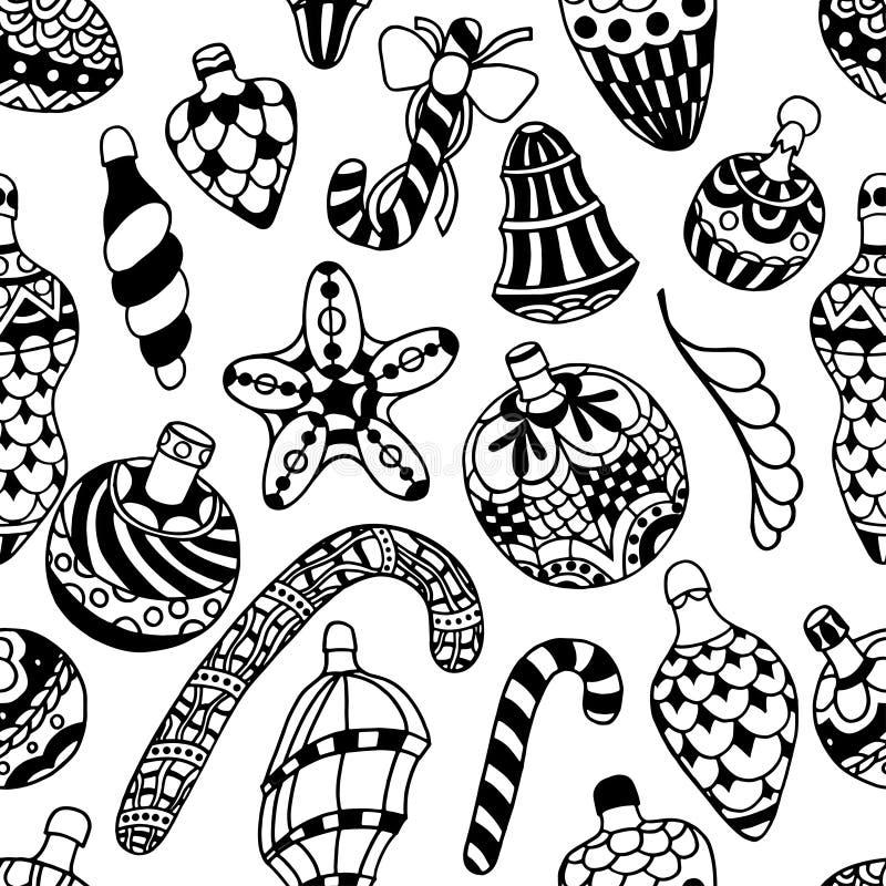 Muster mit Weihnachten lizenzfreie abbildung