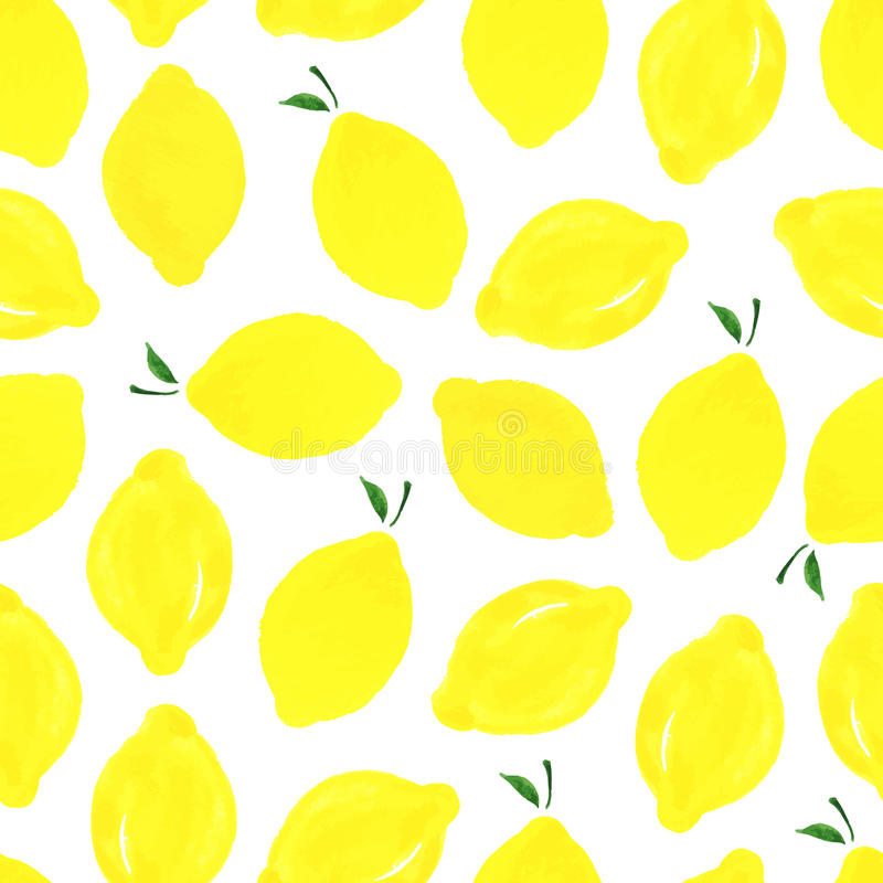 Muster mit Zitronen lizenzfreie abbildung