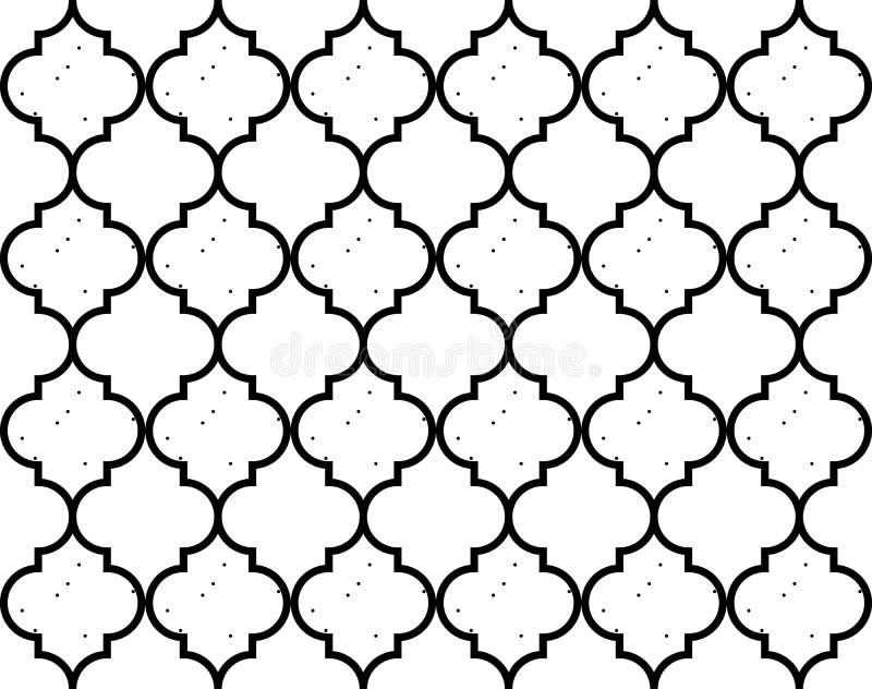 Muster-Mosaik Ogee-Vektor Marokkaner Quatrefoil nahtloser vektor abbildung