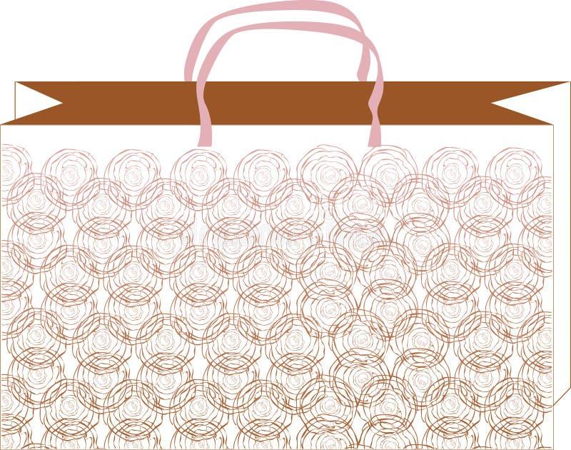 Muster rosafarbenes bag_1 lizenzfreie abbildung