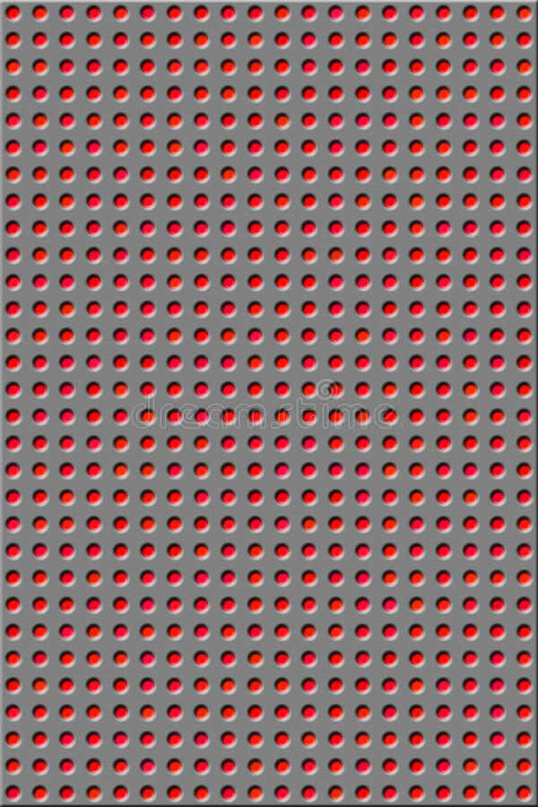 Muster - rote Löcher stock abbildung