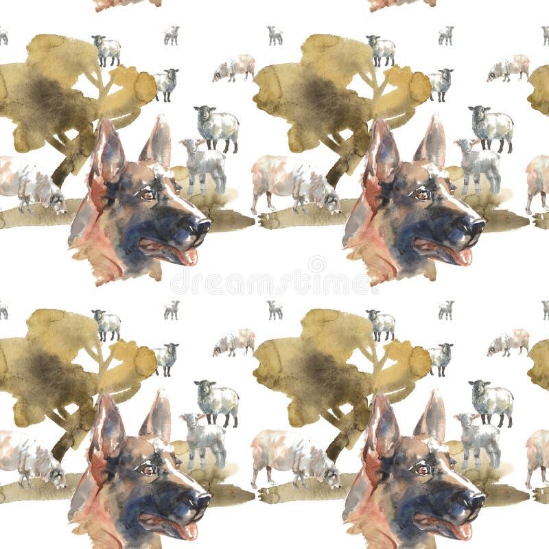 Muster - Schäferhund Dog vektor abbildung