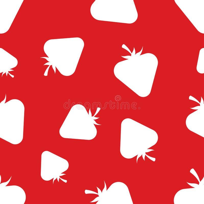 Muster-Schattenbild-Erdbeeren lizenzfreie abbildung