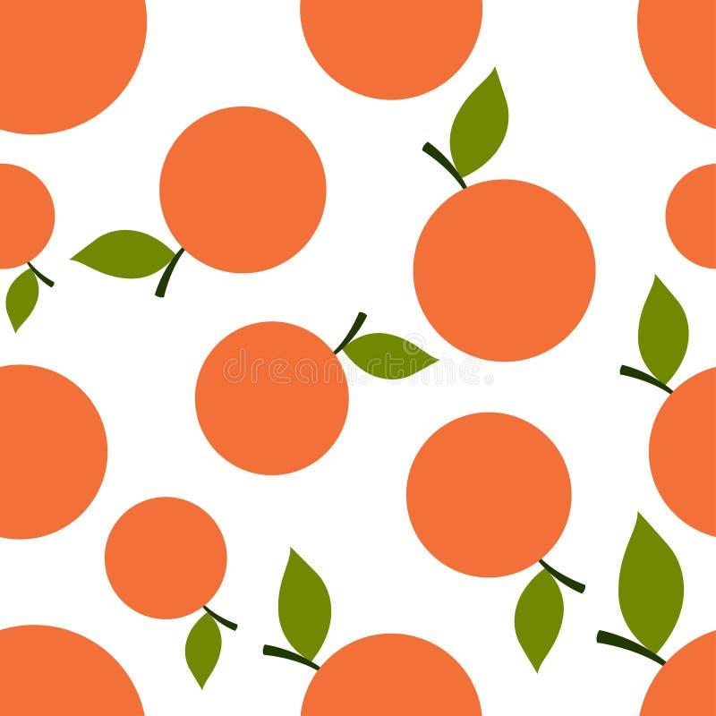 Muster-Schattenbild-Mandarinen vektor abbildung