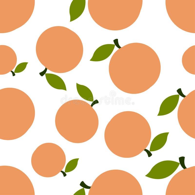 Muster-Schattenbild-Pfirsiche stock abbildung