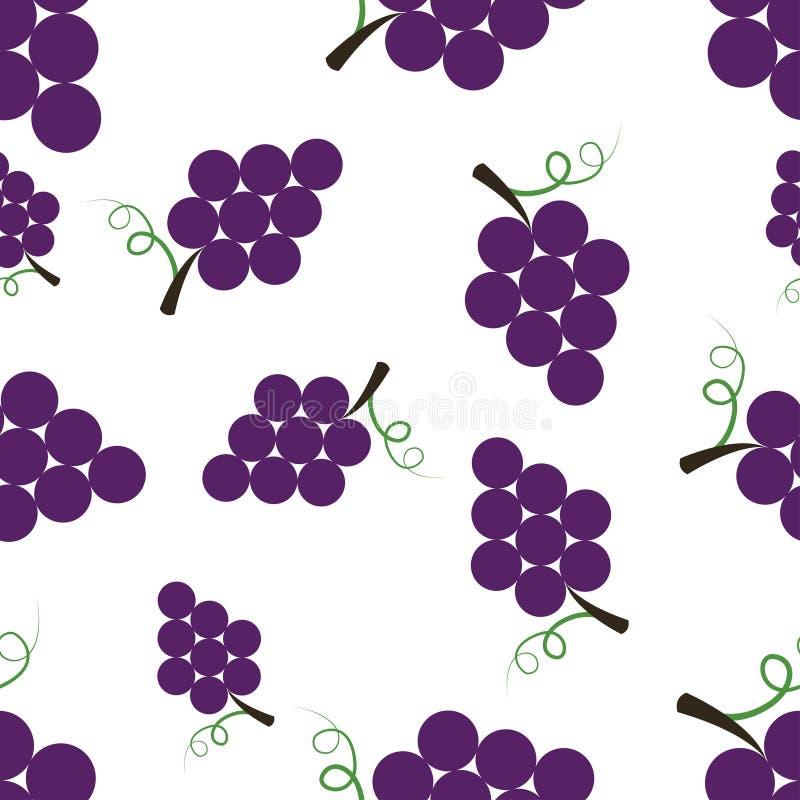 Muster-Schattenbild-Trauben stock abbildung