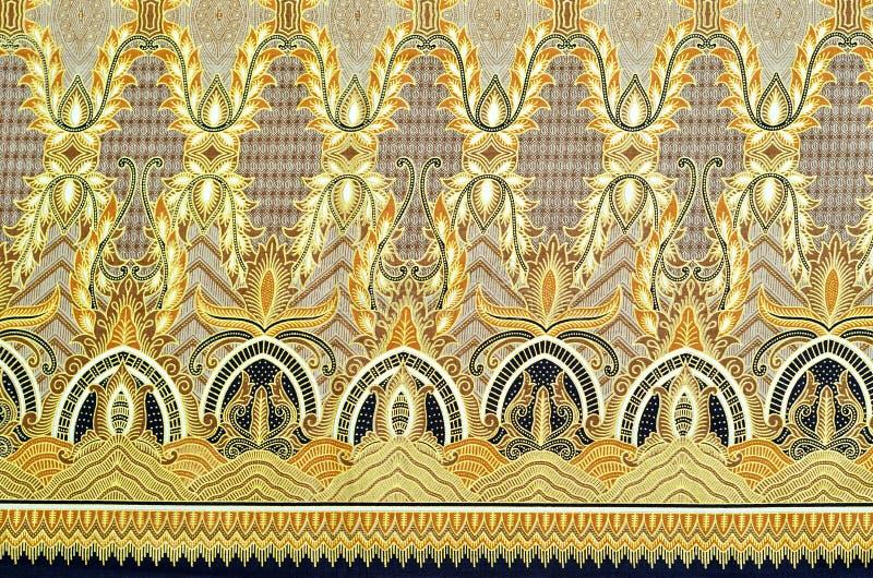 Muster-und Batik-Gewebe stock abbildung