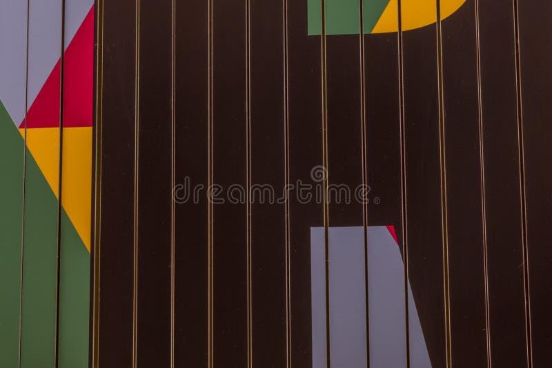 Muster und Farben des Schildes stockfotografie