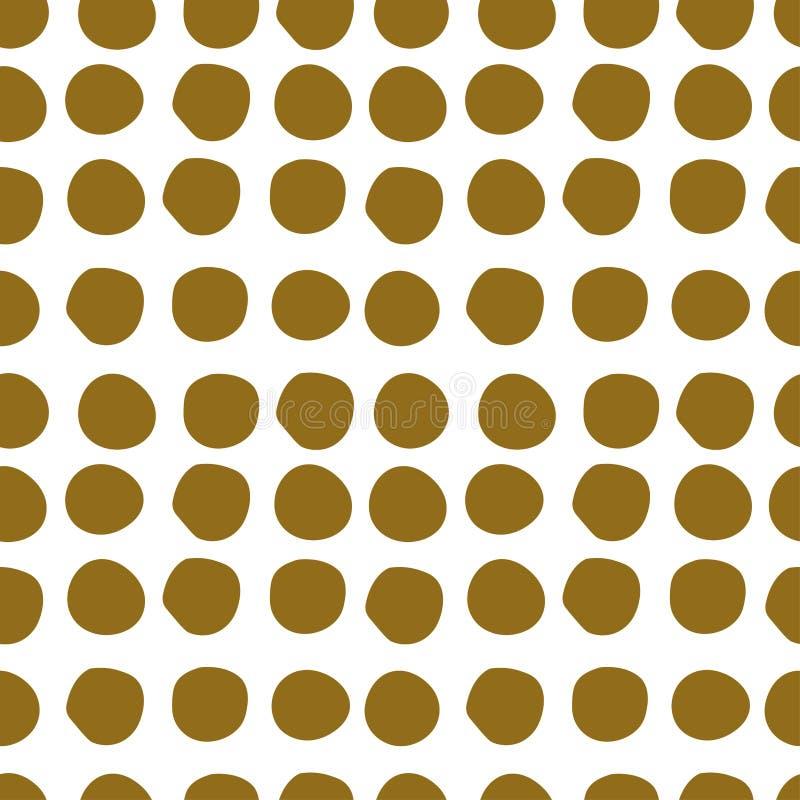 Muster vieler Stellen, nahtloses Vektormuster auf weißem Hintergrund lizenzfreie abbildung
