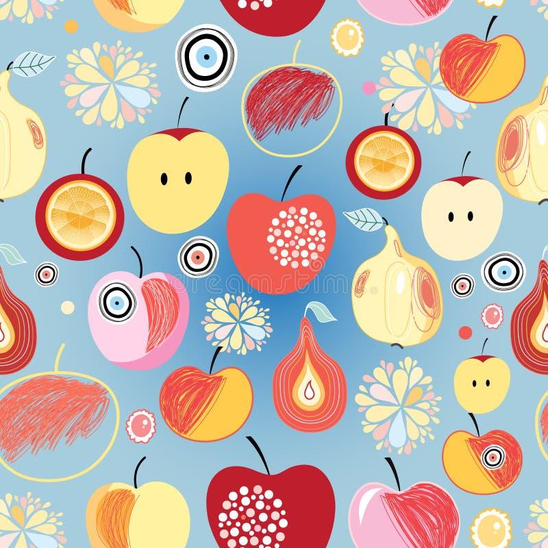 Muster von Äpfeln und von Birnen lizenzfreie abbildung