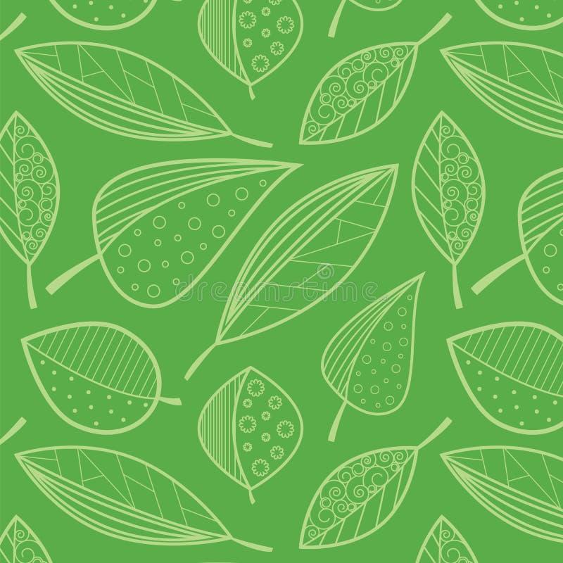 Muster von abstrakten Blättern lizenzfreie abbildung
