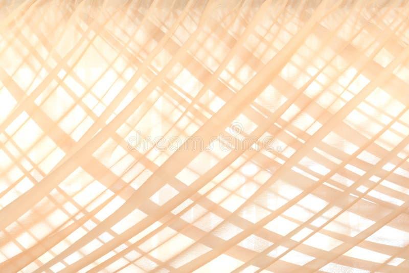 Muster von beige Gewebevorhängen als dem Hintergrund lizenzfreie stockfotos