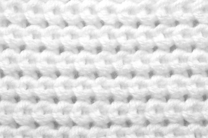 Muster von den weißen Gewinden stockbild