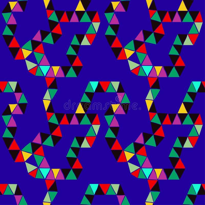 Muster von Dreiecken auf einem blauen Hintergrund vektor abbildung