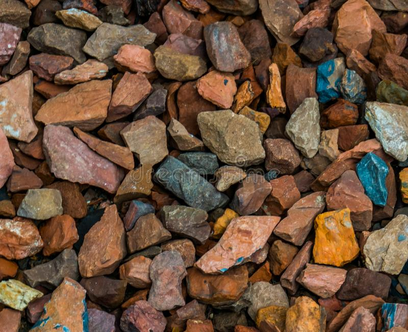 Muster von kleinen Kiesfelsen, Gartendekorationen für Gehwege, Felsenmusterhintergrund lizenzfreie stockbilder