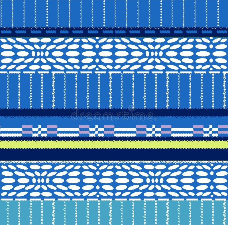 Muster von Streifen, von Ovalen und von Rechtecken stock abbildung