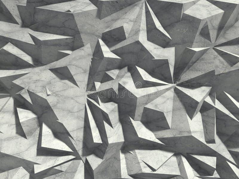 Muster-Wandhintergrund der abstrakten Architektur konkreter chaotischer vektor abbildung
