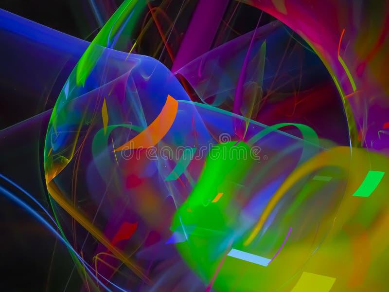 Musterartdisco-Energiehintergrund der kybernetischen Wissenschaft der abstrakten digitalen Fractalgalaxie dekorativer, schönes En stock abbildung