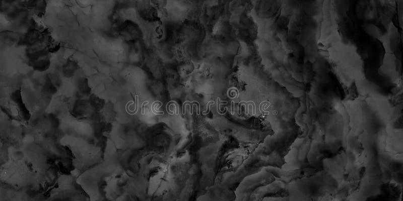 Musterbeschaffenheitshintergrund und -gebrauch des Schwarzweiss-Marmorsteins natürlicher für Innenraumfliesen-Tapeten-Luxusentwur lizenzfreie stockfotografie