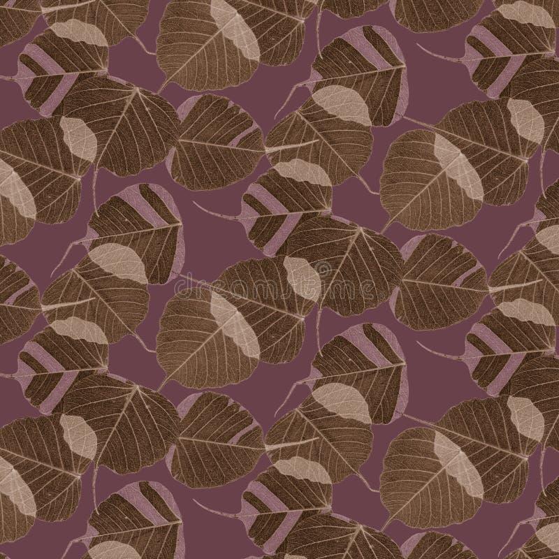 Musterblätter und -tarnung stock abbildung