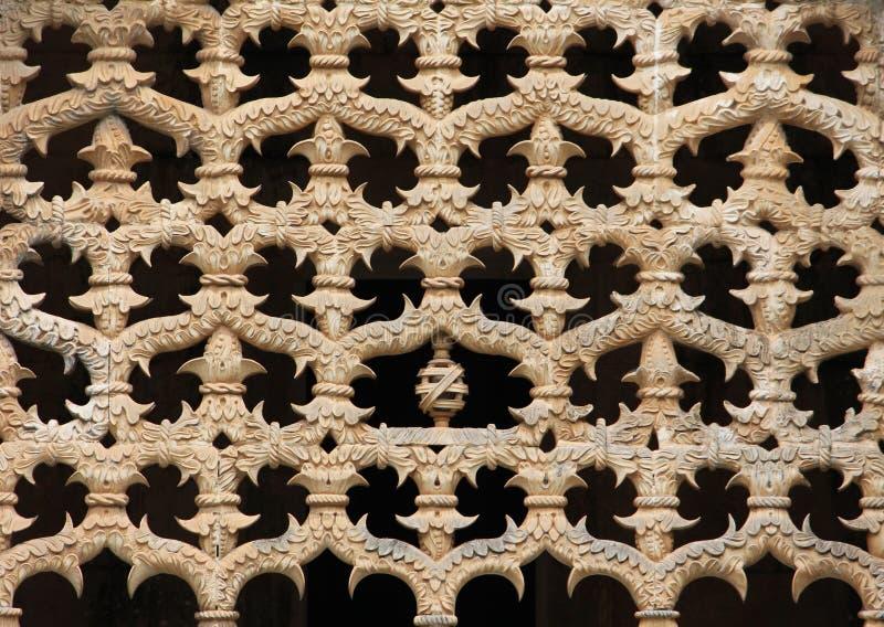Musterdetail der gotischen Architektur stockfotografie