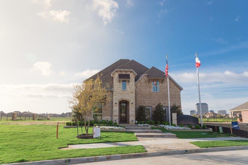 Musterhaus- und Baubüro in Irving, Texas, USA stockfotografie