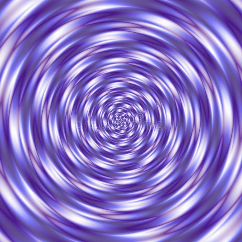 Musterhintergrund-Spiralentunnel ultraviolett, purpurrot, Lavendel und Weiß gefärbt lizenzfreie abbildung