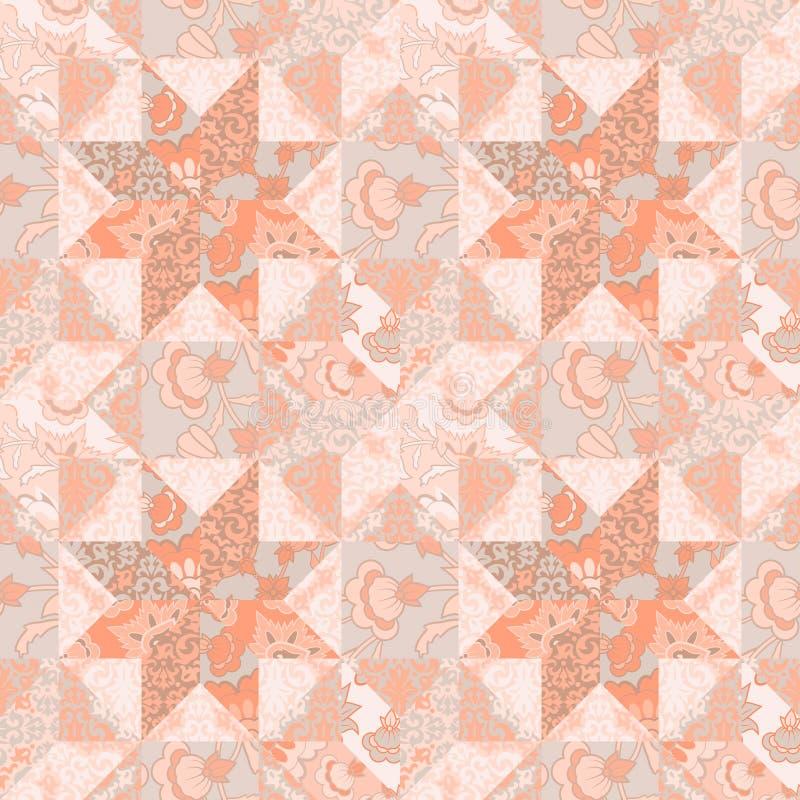 Musterhintergrund-Sternform der Steppdecke nahtlose stock abbildung