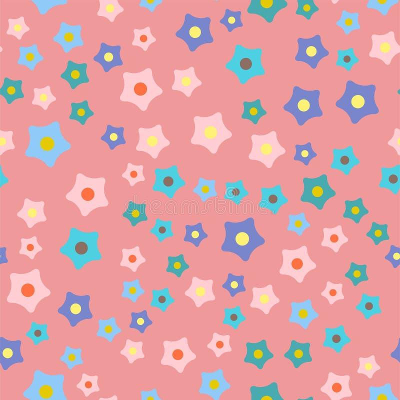Musterhintergrund-Vektorillustration der Naturfrühlingsblumenkranzillustration bunte nahtlose lizenzfreie abbildung