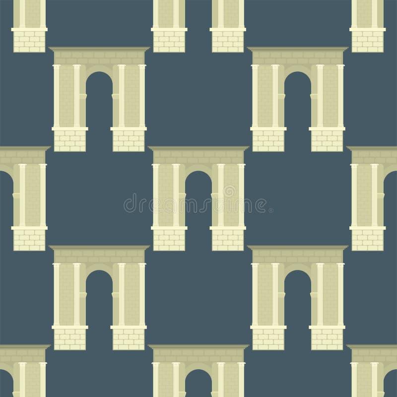 Download Musterillustration Des Klassischen Bogens Des Bogenvektorarchitekturbaurahmenspalteneingangsdesigns Nahtlose Vektor Abbildung - Illustration von spalte, dekoration: 96931969