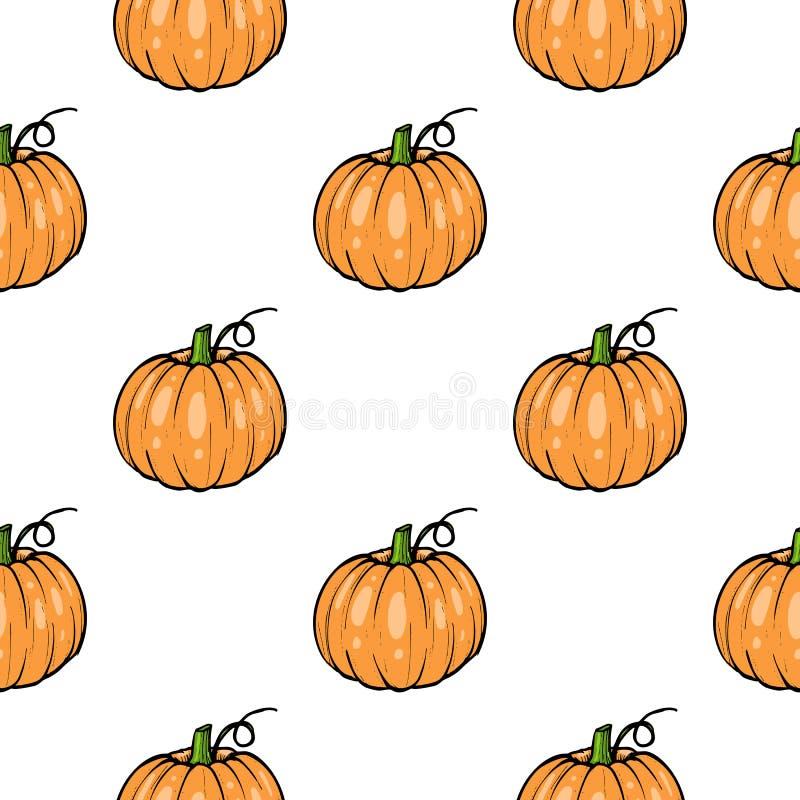 Musterkürbis - quetschen Sie für flache Farbehalloweens oder der Danksagung ikone für apps und Website stock abbildung