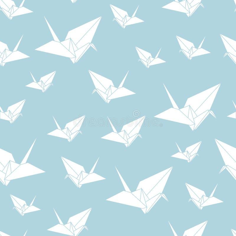 Musterpapier-Origamischwan des Vektors nahtloser vektor abbildung