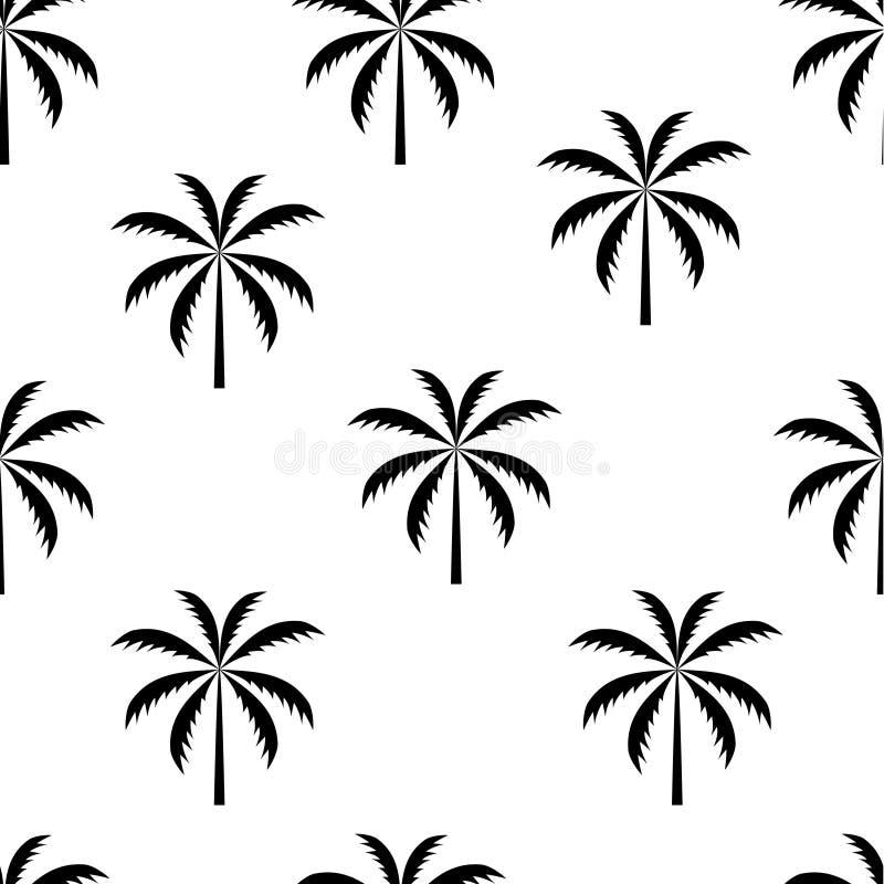 Mustervektorillustration der Palme nahtlose lizenzfreie abbildung