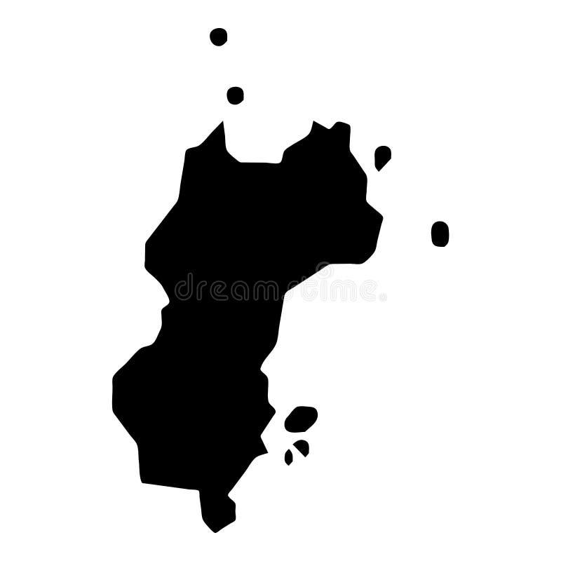 Mustique mapa royalty ilustracja