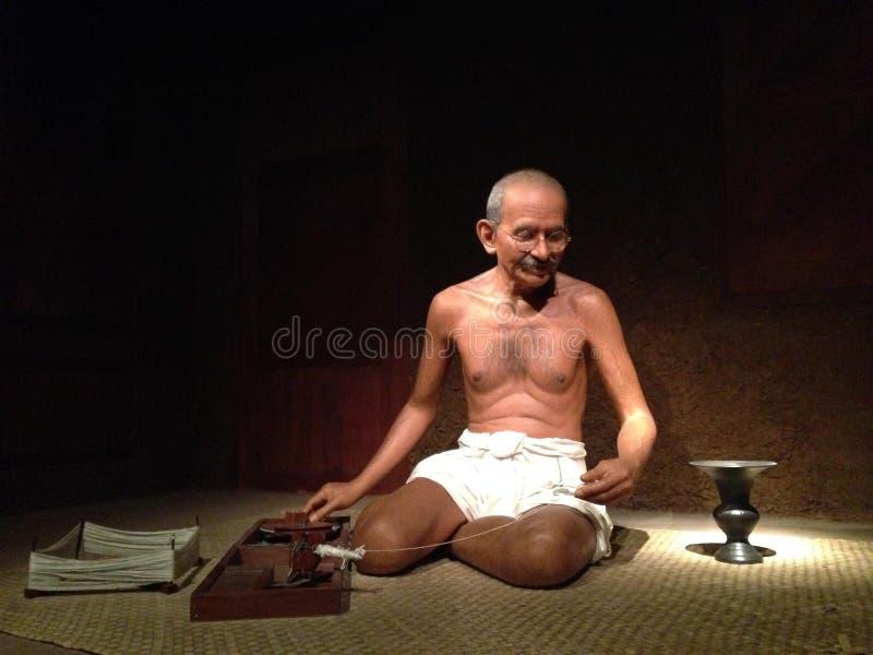 Musuem humano tailandés de las imágenes de Mahatma Ghandhi imágenes de archivo libres de regalías