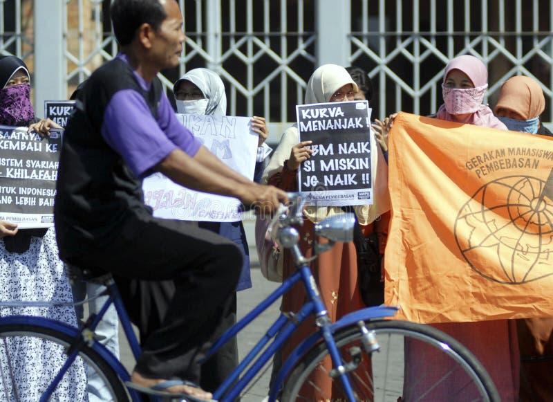 MUSULMANES MODERADOS TOLERANTES DE INDONESIA imagen de archivo libre de regalías