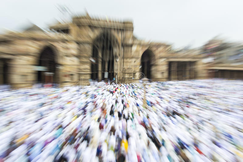 Musulmans célébrant Eid al-Fitr qui marque la fin du mois de Ramadan photos libres de droits
