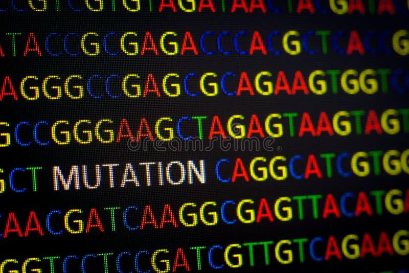 MUTACJA w DNA sekwenci obrazy royalty free