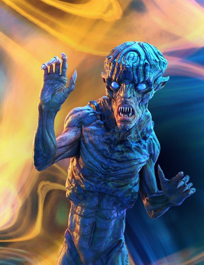 Mutant-Ausländer im psychedelischen Albtraum lizenzfreie abbildung