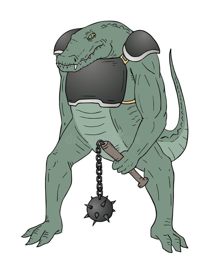 Mutant de crocodile illustration de vecteur