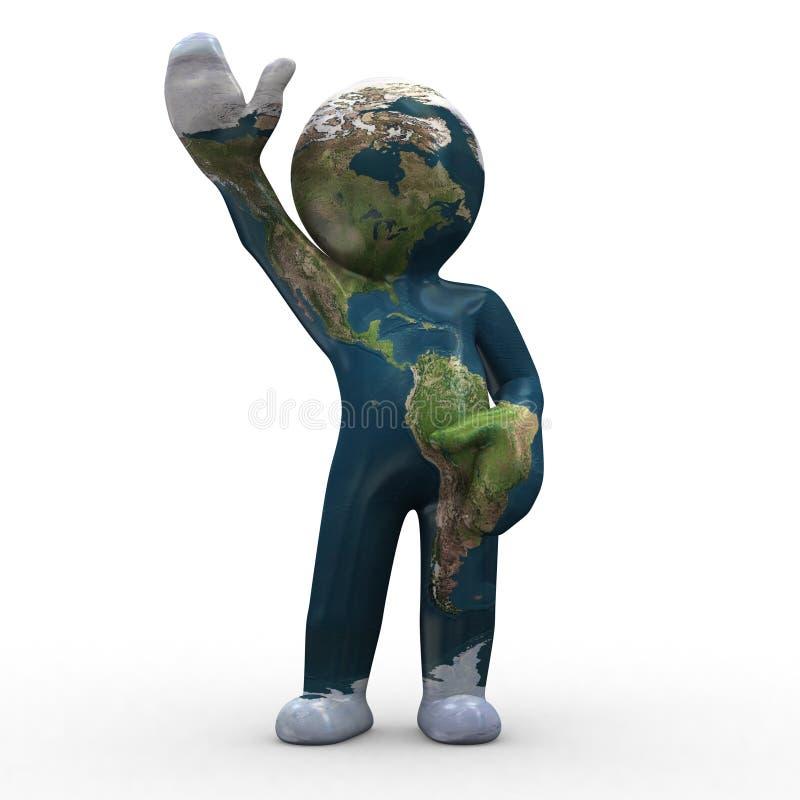 Mutant earth stock illustration